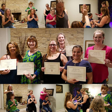 Congratulations to our newest Reiki Master Teachers!: Gena Leone, Debora Hopper, Mary Barrs (re-cert