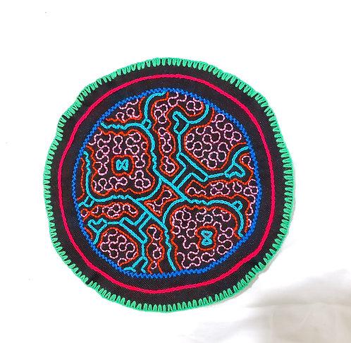 "AC5.43 Hand Embroidered Meditation Circle 7.75"""