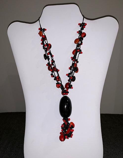 JN73 Huayruro and Mancian Black Necklace