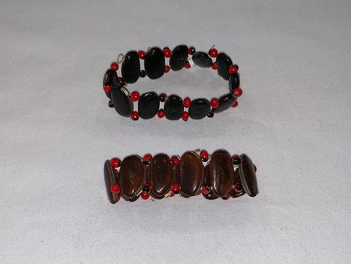 JB20 Huayruro and Leather Bracelet