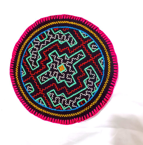AC9.3 Hand Embroidered Meditation Circle 8""