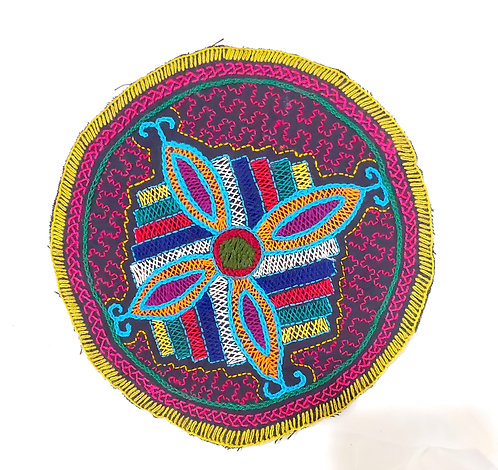 AC18 Hand Embroidered Meditation Circle 9""