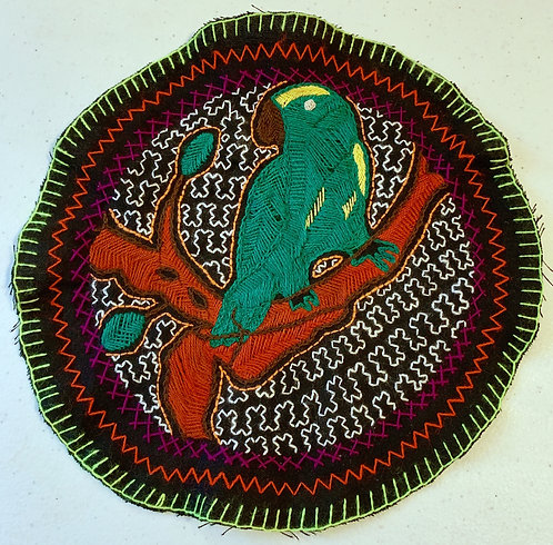 AC22.1 Hand Embroidered Meditation Circle 9""