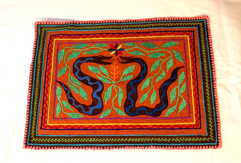 """AA82 Hand Painted & Embroidered Altar Cloth 15.5"""" x 10"""""""