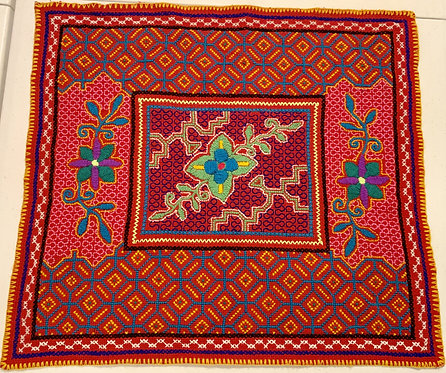 "AA78 Hand Woven Embroidered Altar Cloth 18""x21"""