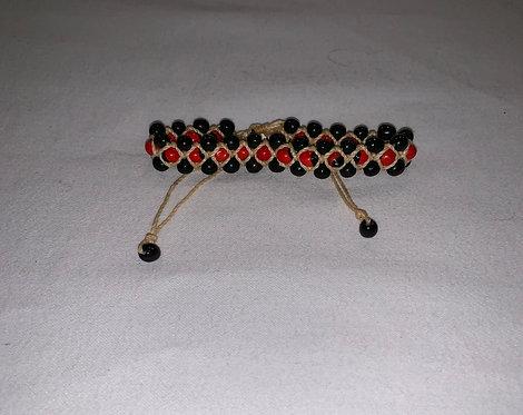 JB61 Huayruro and Mancian String Bracelet