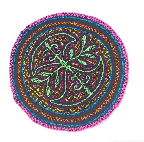 "AC20.3 Hand Embroidered Meditation Circle 8"""