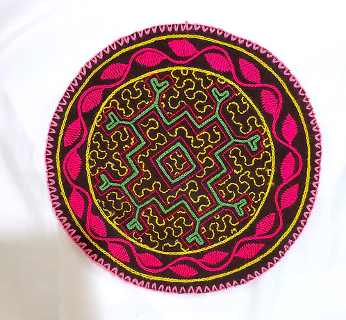 AC13.20 Hand Embroidered Meditation Circle 7.75""