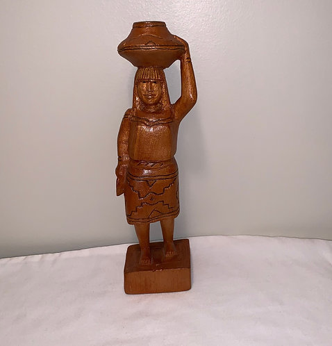 GS1 Wooden Woman Statue