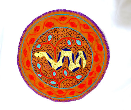 "AC14.7 Hand Embroidered Meditation Circle 9"""