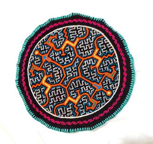 AC14.16 Hand Embroidered Meditation Circle 9.25""