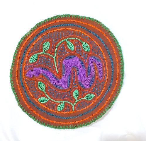 "AC9.8 Hand Embroidered Meditation Circle 7.5"""