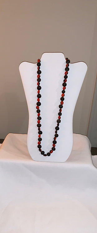 JN27 Huayruro and Bead Necklace