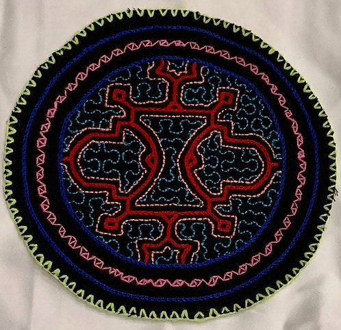 "AC5.12 Hand Embroidered Meditation Circle 6.5"" $18"