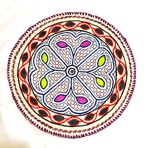 AC15.28 Hand Embroidered Meditation Circle 10""
