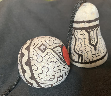 GO15 Hand-Carved & Painted Ball Ornament