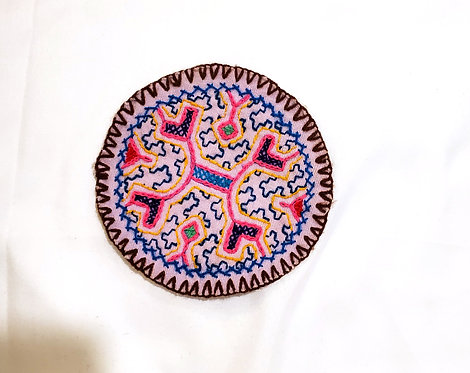 AC1.11 Hand Embroidered Meditation Circle 4.25""