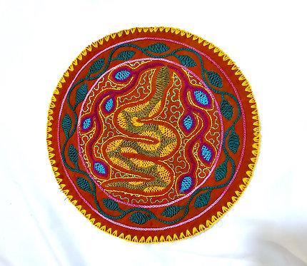 "AC12.2 Hand Embroidered Meditation Circle 8"""