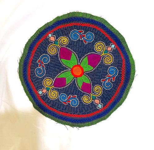 "AC18.1 Hand Embroidered Meditation Circle 9"""