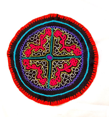 AC5.29 Hand Embroidered Meditation Circle 6""
