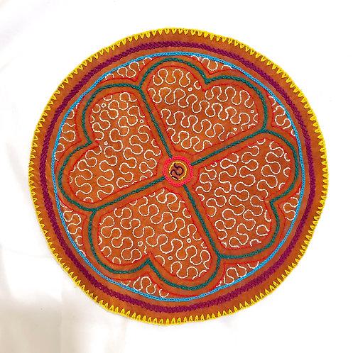 "AC24.3 Hand Embroidered Meditation Circle.9"""