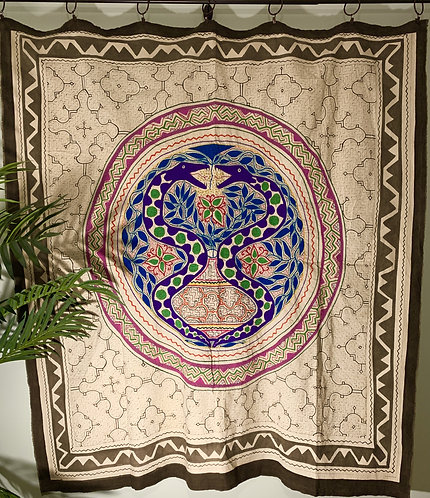 AT41.1 Hand Embroidered and Painted Tapestry