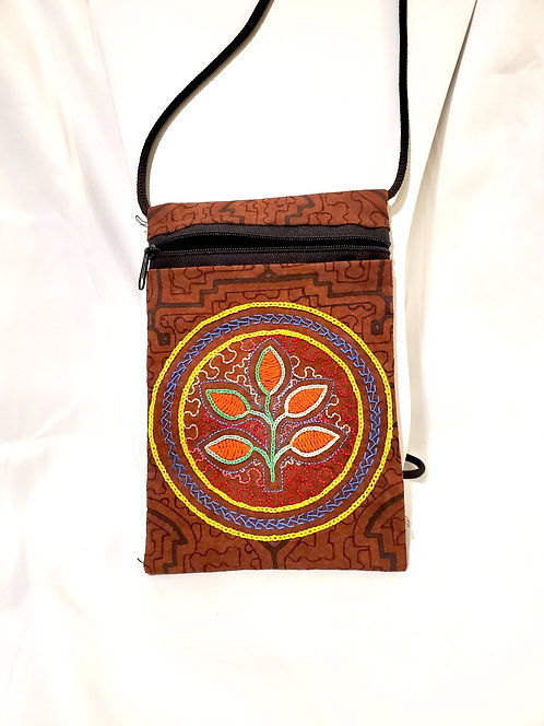 "GB54.4 - Hand-Painted & Embroidered Shipibo Textile Bag, 4.5"" x 7.5"""