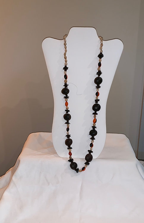 JN83 Huayruro and Seeds Necklace