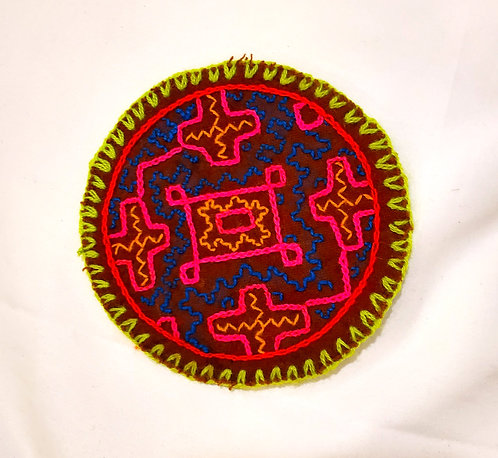 AC1.10 Hand Embroidered Meditation Circle 4.5""