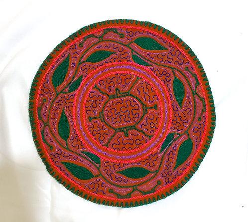 "AC15.7 Hand Embroidered Meditation Circle 9.5"""