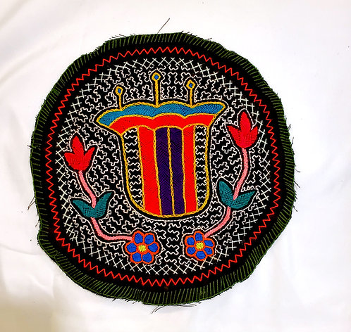 AC22.2 Hand Embroidered Meditation Circle 9""