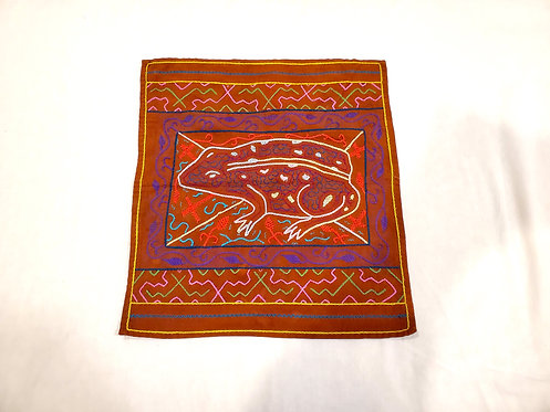 "AA84 Frog Medicine Altar Cloth 13.5"" x 15"""