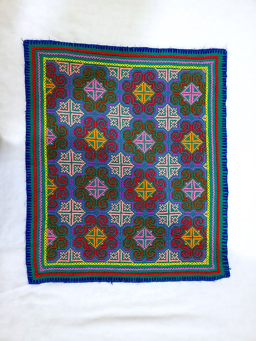 """AA73.4 Hand Embroidered Song Altar Cloth 15.5"""" x 18"""""""