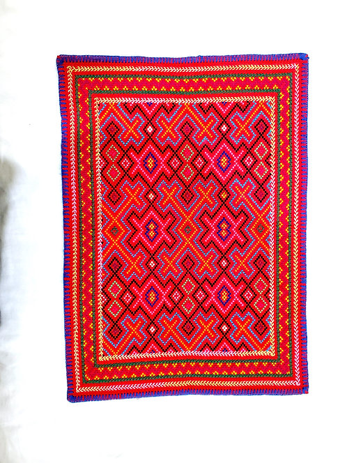 """AA73.3 Hand Embroidered Song Altar Cloth  19"""" x 13.5"""""""