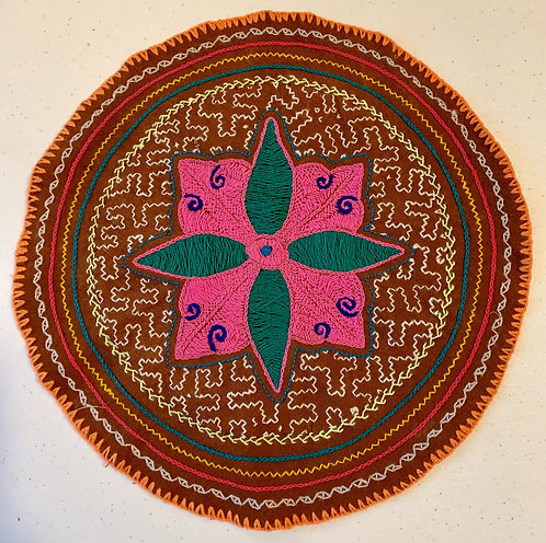 AC27.1 Hand Embroidered Meditation Circle 11""
