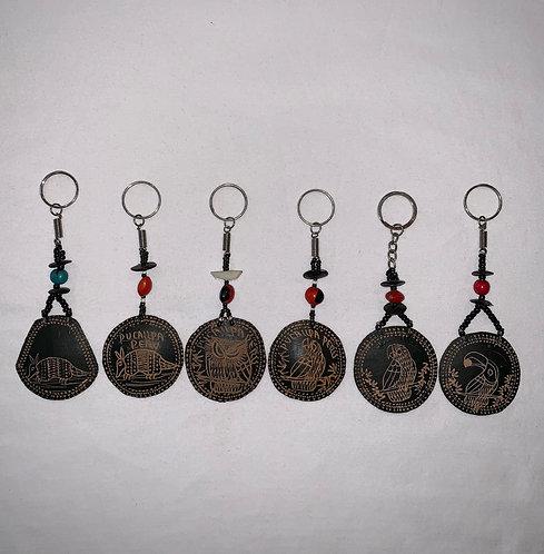 GK10 Etched Gourd Key Chain