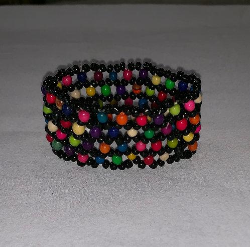 JB14 Beaded Multi Color Seed Bracelet