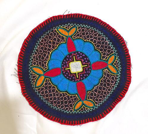 "AC22.3 Hand Embroidered Meditation Circle 9"""