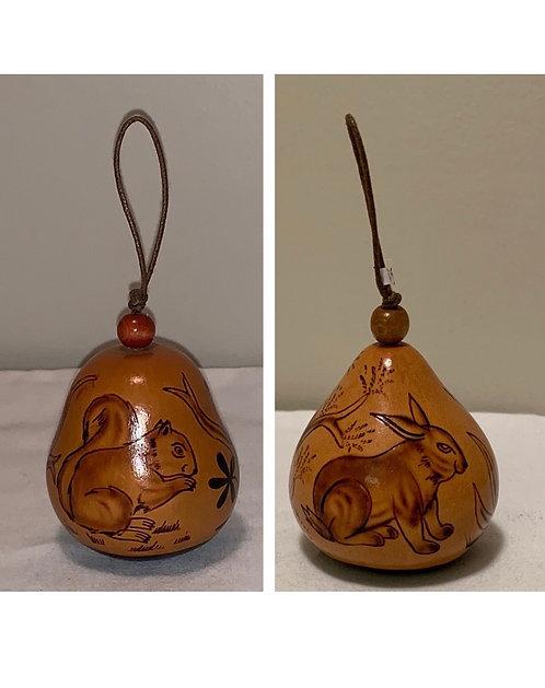 GO12 Squirrel Gourd Ornament