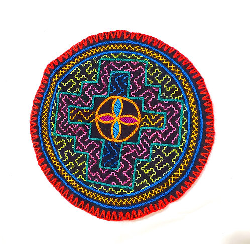 "AC10.4 Hand Embroidered Meditation Circle 8"""
