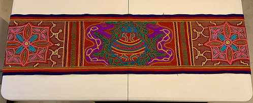 """AR2 Hand Embroidered Table Runner 57.5"""" x 12.5"""""""
