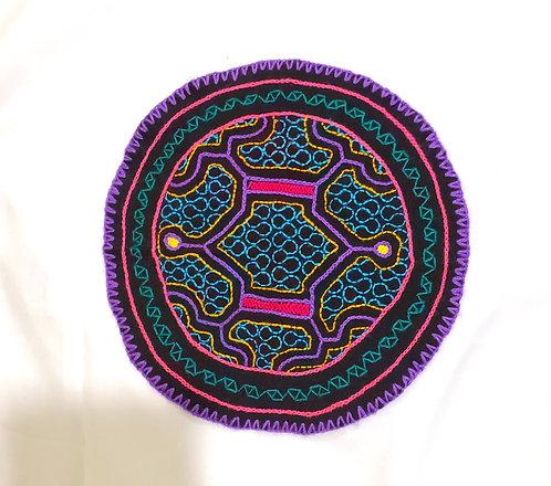 "AC7.4 Hand Embroidered Meditation Circle 6.75"""