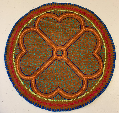 AC24.1 Hand Embroidered Meditation Circle