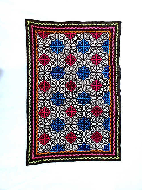 """AA73.2 Hand-Embroidered Song Altar Cloth  19"""" x 13"""""""
