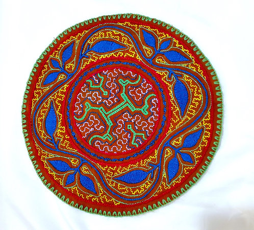 AC15.4 Hand Embroidered Meditation Circle 9.5""