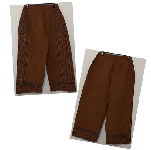 CP4.2 Embroidered Brown Pants