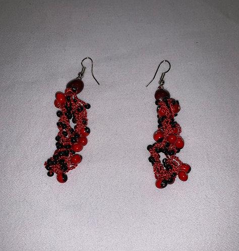 JE18 Huayruro Bead Earrings