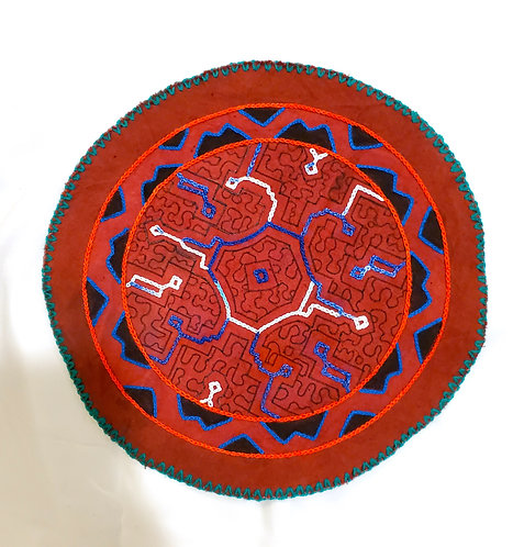 AC15.5 Hand Embroidered Meditation Circle 9.5""