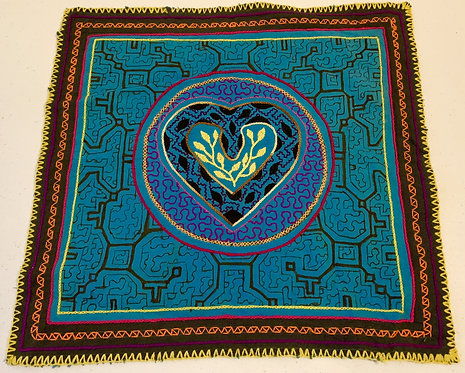 "AA69 Hand-Embroidred Matrimonial Serpent Themed Altar Cloth 13"" x 14"""