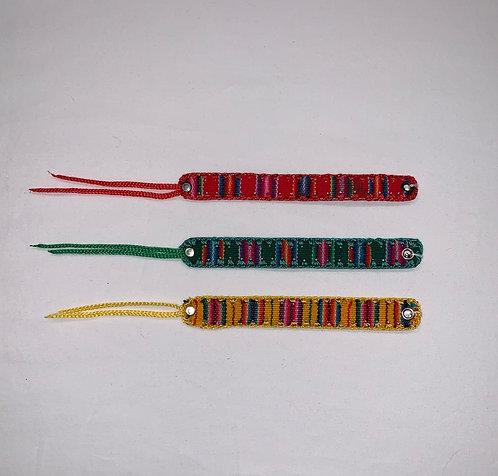 JB35 Felt and Woven String Bracelet